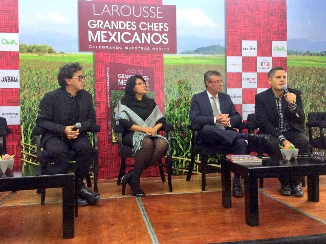 Equipo de Ediciones Larousse en la presentación del libro Grandes Chefs Mexicanos. Foto: Ediciones Larousse S.A. de C.V.
