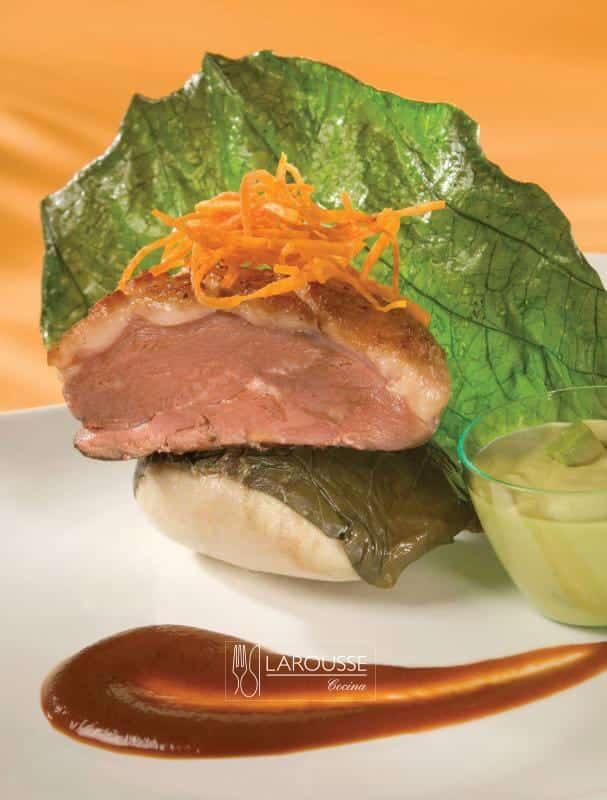 pechuga-de-pato-con-tamal-de-frijol-y-salsa-de-guajillo-001-larousse-cocina
