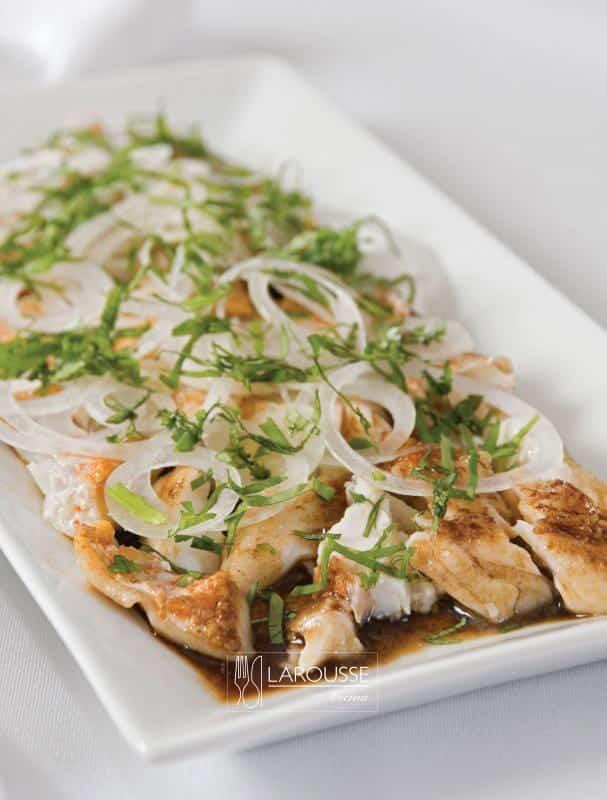 pescado asado al cilantro