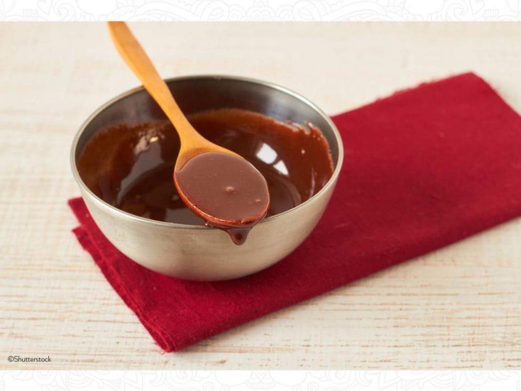 salsa de chocolate con ron