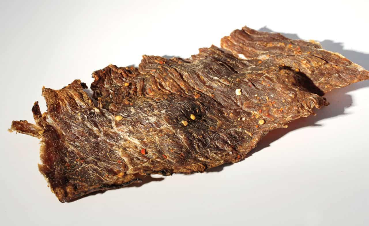 Foto: Trozo de carne seca. © Ediciones Larousse.