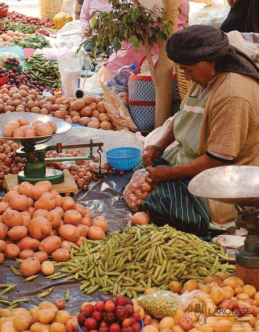 Foto: Mercado de la ciudad de Oaxaca. © Ediciones Larousse / Bertha Herrera.