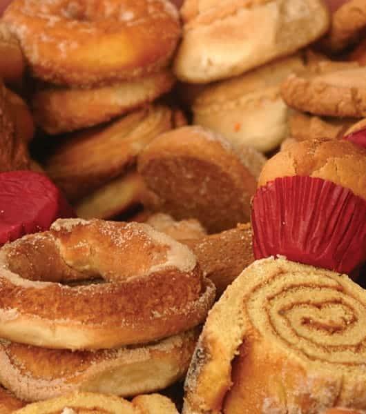 Foto: Variedad de pan dulce. © Shutterstock.
