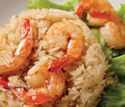 Foto: Platillo, arroz con camarón. © Shutterstock.