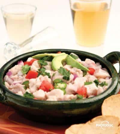 Foto: Ceviche en plato de barro. (Ricardo Castellanos), Fhotodisck.
