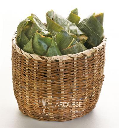 Foto: Chiquihuite con hojas de plátano. (Enrique Arechavala).