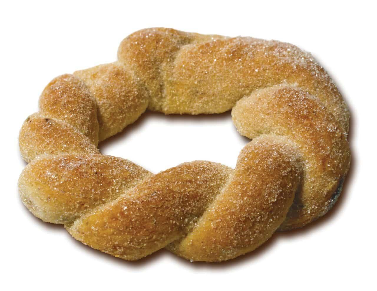 Foto: Pan dulce, rosca de canela. (Archivo Gráfico Larousse).