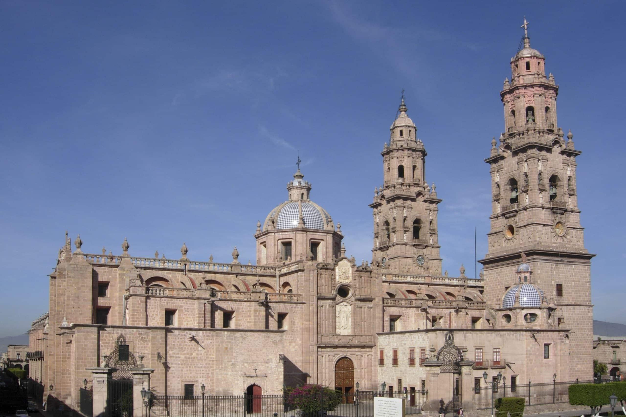 La Catedral de Morelia es una de las edificaciones más representativas de Michoacán.