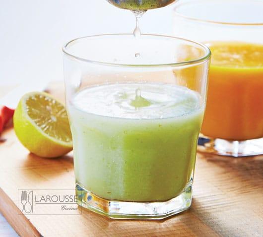 jugo de pera, manzana y jengibre