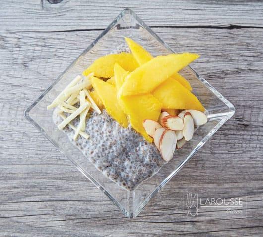 Pudín de chía con mango